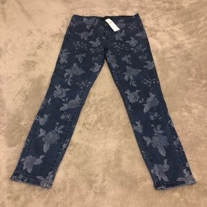 """Ann Taylor Floral """"The Skinny Crop"""" Jeans"""